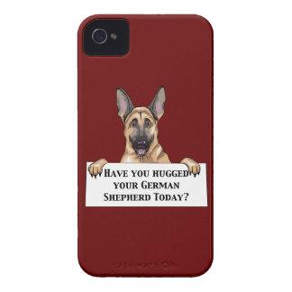 Hugged German Shepherd iPhone 4 Covers