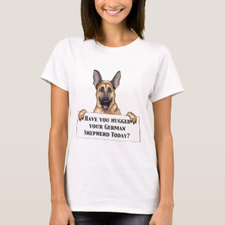 Hugged German Shepherd T-Shirt