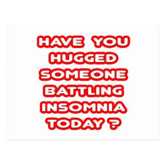 Hugged Someone Battling Insomnia Today? Postcard