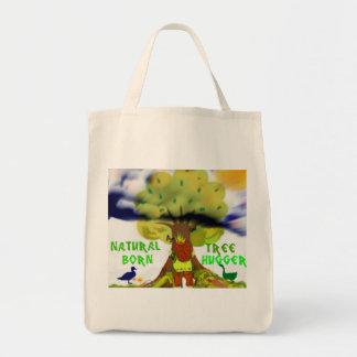 Hugger llevado natural del árbol bolsa tela para la compra