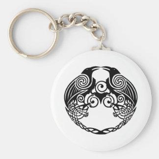 Huggin and muninn keychain