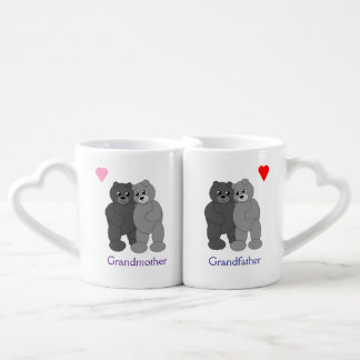 Hugging Gray Teddy Bears Grandparents Lovers Mug