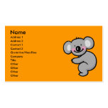 Hugging Koala bear Business Card Template