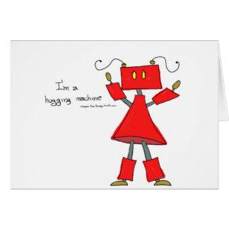 Hugging machine greeting card