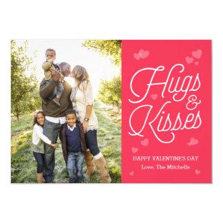 Hugging Script Valentine's Day Photo Cards