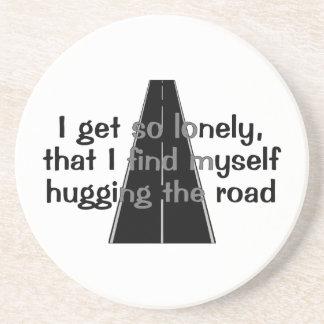 Hugging The Road Sandstone Coaster