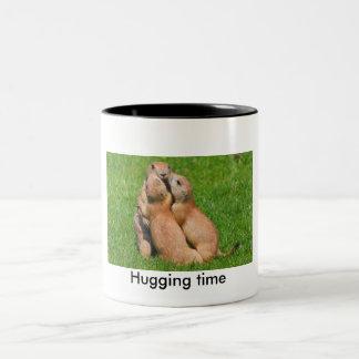 Hugging time Two-Tone coffee mug