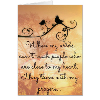 Hugging You With My Prayers Card