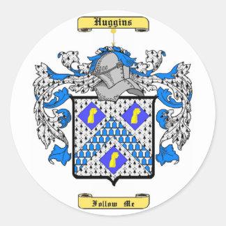 huggins classic round sticker