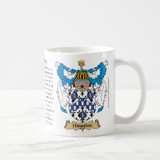 Huggins, the Origin, the Meaning and the Crest Mug