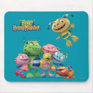 Hugglemonster Family Mouse Pad