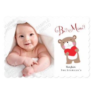 Huggy Bear Valentines Day Photo Card