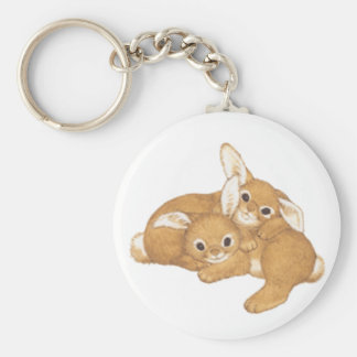 Huggy Bunnies Keychain