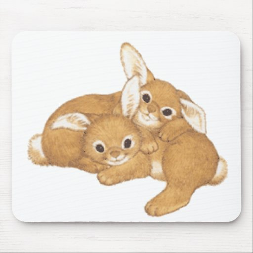 Huggy Bunnies Mouse Pad