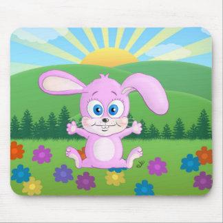 Huggy Bunny - Cute Bunny Mousepad For Kids