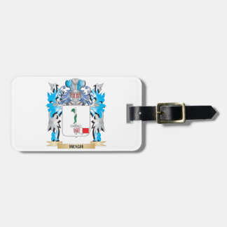 Hugh Coat of Arms - Family Crest Travel Bag Tag
