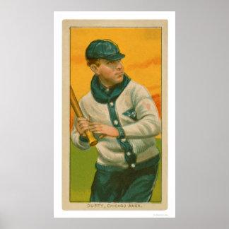 Hugh Duffy Baseball Card 1909 Poster