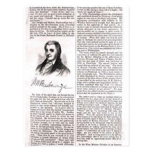 Hugh Henry Brackenridge Postcard
