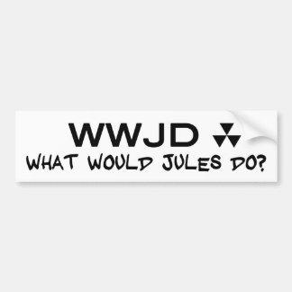 Hugh Howey What Would Jules Do Sticker Car Bumper Sticker