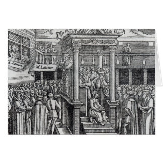 Hugh Latimer  Preaching before King Edward VI Card