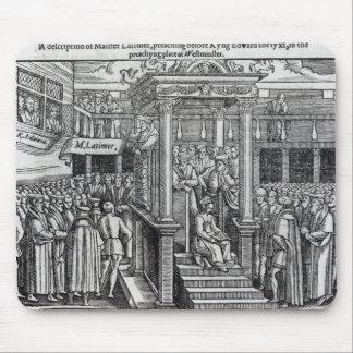 Hugh Latimer  Preaching before King Edward VI Mouse Pad