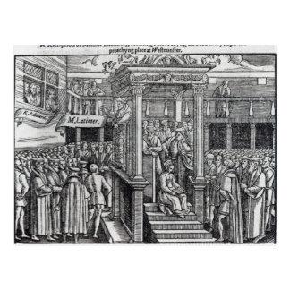 Hugh Latimer  Preaching before King Edward VI Postcard