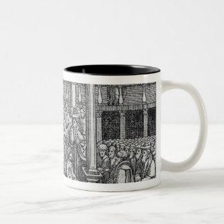 Hugh Latimer  Preaching before King Edward VI Two-Tone Coffee Mug
