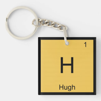 Hugh  Name Chemistry Element Periodic Table Keychain