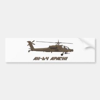 Hughes AH-64 Apache Etiqueta De Parachoque
