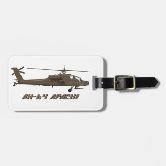 Hughes AH-64 Apache Luggage Tag