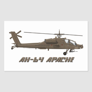 Hughes AH-64 Apache Rectangular Sticker