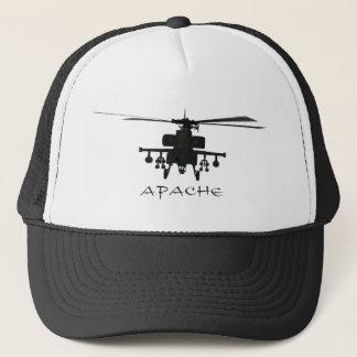 Hughes AH-64 Apache silhouette Trucker Hat