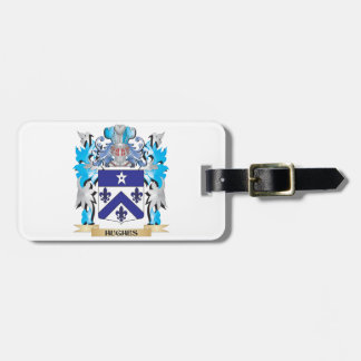 Hughes Coat of Arms - Family Crest Luggage Tag