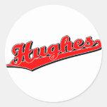 Hughes en rojo etiquetas
