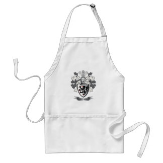 Hughes Family Crest Coat of Arms Adult Apron