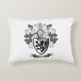 Hughes Family Crest Coat of Arms Decorative Pillow