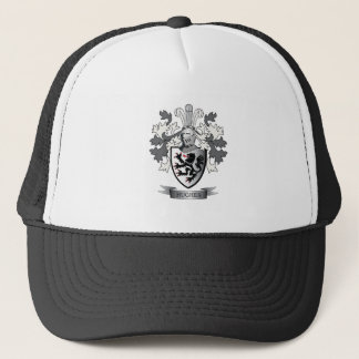 Hughes Family Crest Coat of Arms Trucker Hat
