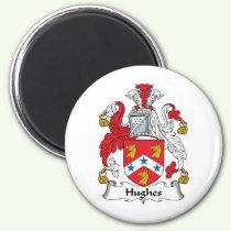 Hughes Family Crest Magnet