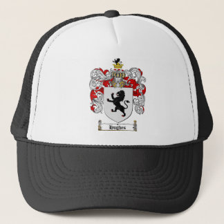 HUGHES FAMILY CREST -  HUGHES COAT OF ARMS TRUCKER HAT