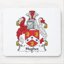 Hughes Family Crest Mousepad
