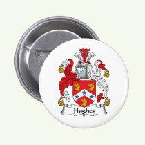 Hughes Family Crest Button