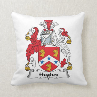 Hughes Family Crest Throw Pillow