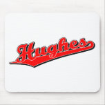 Hughes in Red Mouse Pads