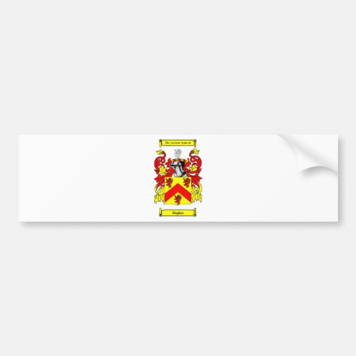 Hughes (Irish) Coat of Arms Bumper Stickers