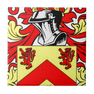 Hughes (Irish) Coat of Arms Ceramic Tile