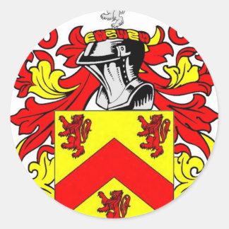 Hughes (Irish) Coat of Arms Classic Round Sticker
