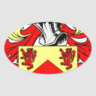 Hughes (Irish) Coat of Arms Oval Sticker