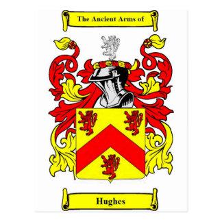Hughes (Irish) Coat of Arms Postcard
