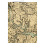 Hughes Military Map Of Richmond and Petersburgh Card