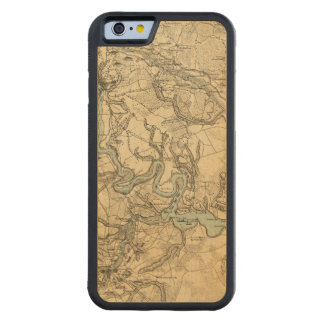 Hughes Military Map Of Richmond and Petersburgh Carved® Maple iPhone 6 Bumper